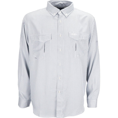 AFTCO Sirius Long Sleeve Button Down Shirt-MENS CLOTHING-Slate Blue-S-Kevin's Fine Outdoor Gear & Apparel