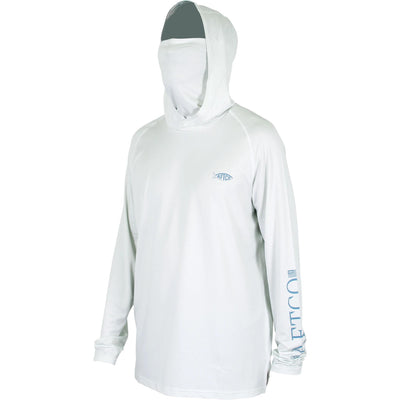 Aftco Yurei Hooded Performance Shirt-MENS CLOTHING-S-Vapor Heather-Kevin's Fine Outdoor Gear & Apparel