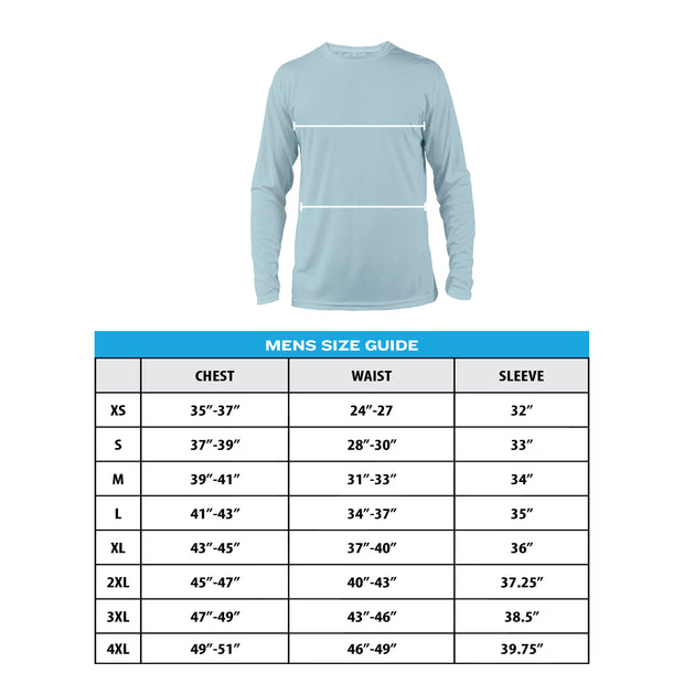 Kevin's L/S Performance T-Shirt - Blue Tarpon-T-Shirts-Kevin's Fine Outdoor Gear & Apparel