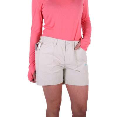 Aftco Original Women's Fishing Short-WOMENS CLOTHING-Ash-2-Kevin's Fine Outdoor Gear & Apparel