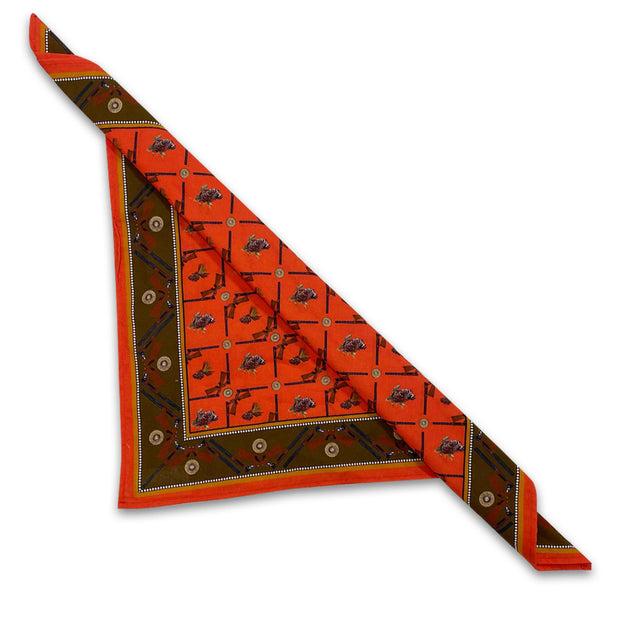 Kevin's Cotton Quail Hunt Bandana/Dinner Napkin-WOMENS CLOTHING-RED-Kevin's Fine Outdoor Gear & Apparel