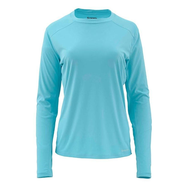 Simms Ladies Solarflex Long Sleeve Crewneck-WOMENS CLOTHING-Turquoise-S-Kevin's Fine Outdoor Gear & Apparel