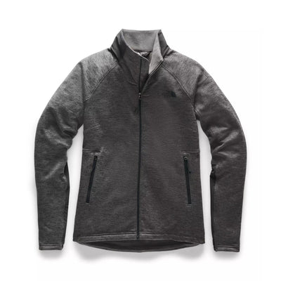 The North Face Women's Shastina Stretch Full Zip Jacket-Liquidate-DARK GREY HEATHER-XS-Kevin's Fine Outdoor Gear & Apparel