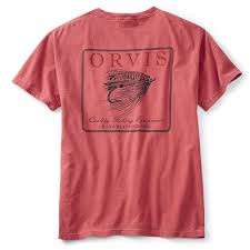 Orvis Vintage Salmon Fly Pocket Tee-MENS CLOTHING-Washed Red-M-Kevin's Fine Outdoor Gear & Apparel