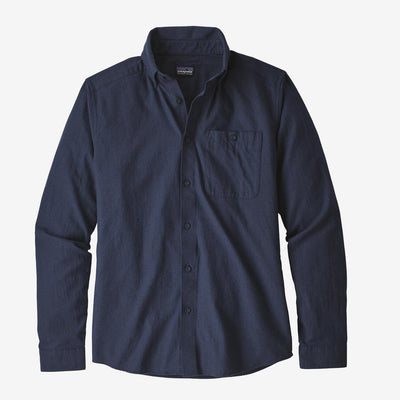 Patagonia Men's Long-Sleeved Vjosa River Pima Cotton Shirt-MENS CLOTHING-Classic Navy-M-Kevin's Fine Outdoor Gear & Apparel