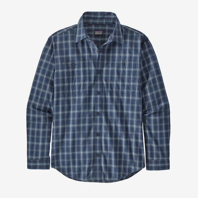 Patagonia Men's Long-Sleeved Organic Pima Cotton Shirt-MENS CLOTHING-Bushel: Stone Blue-M-Kevin's Fine Outdoor Gear & Apparel