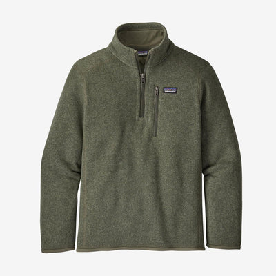 Patagonia Boy's Better Sweater 1/4 Zip-CHILDRENS CLOTHING-Industrial Green-S-Kevin's Fine Outdoor Gear & Apparel