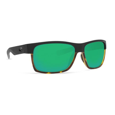 "Costa ""Half Moon"" Polarized Sunglasses-SUNGLASSES-BLACK / TORTOISE (181)-GREEN 580G-Kevin's Fine Outdoor Gear & Apparel"