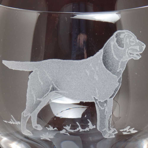 Kevin's Crystal Tapered Highball Glass 14 oz.-HOME/GIFTWARE-BLACK LAB-Kevin's Fine Outdoor Gear & Apparel