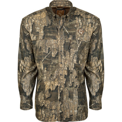 DW Mesh Back Flyweight Shirt with Spine Pad Shirt-CAMO CLOTHING-Realtree Timber-MD-Kevin's Fine Outdoor Gear & Apparel