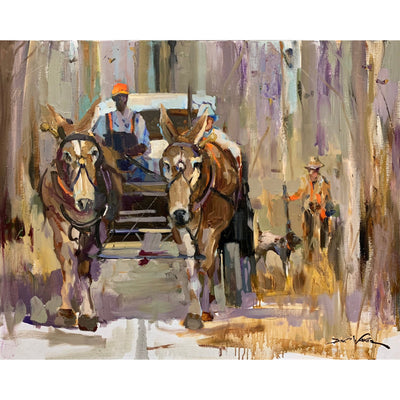"Dirk Walker ""Quail Hunting with Hilton"" Giclee Print-Decor-Kevin's Fine Outdoor Gear & Apparel"