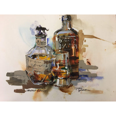 "Dirk Walker ""Blanton's & Bulleit"" Giclee Print-Decor-8""x10""-Kevin's Fine Outdoor Gear & Apparel"