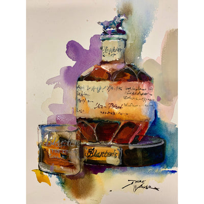 "Dirk Walker ""Blanton's & A Double Old Fashion"" Giclee Print-Decor-8""x10""-Kevin's Fine Outdoor Gear & Apparel"