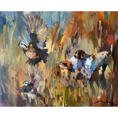 "Dirk Walker ""Quail & Pointers"" Giclee Print-Decor-Kevin's Fine Outdoor Gear & Apparel"