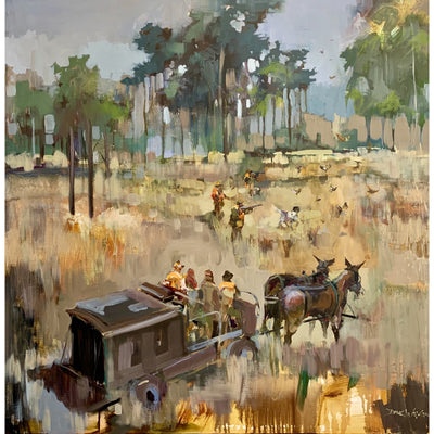 "Dirk Walker ""Bray's Island Plantation Quail Hunt"" Giclee Print-Decor-24""x24""-Kevin's Fine Outdoor Gear & Apparel"