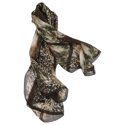 Kevin's Feather Silk Scarf