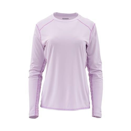 Simms Ladies Solarflex Long Sleeve Crewneck-WOMENS CLOTHING-Pale Lavender-S-Kevin's Fine Outdoor Gear & Apparel