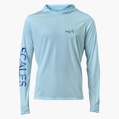 Scales Tropical Pro Performance Hoodie-MENS CLOTHING-Marlin-M-Kevin's Fine Outdoor Gear & Apparel