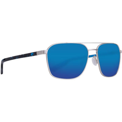 "Costa ""Wader"" Polarized Sunglasses-SUNGLASSES-Brushed Silver-Blue Mirror 580P-Kevin's Fine Outdoor Gear & Apparel"