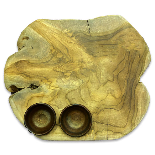 Bali Teak Root Serving Board w/ Condiment bowls-HOME/GIFTWARE-Kevin's Fine Outdoor Gear & Apparel