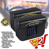 Car Cooler Solar Powered Ventilation SET OF 2-Sulit Promos