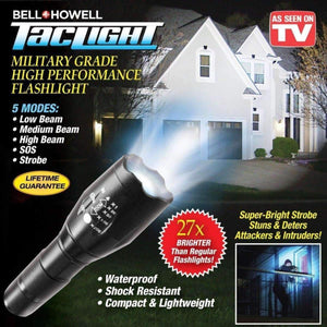 Rechargeable Tactical Flashlight with Stun_Gun Teaser-Sulit Promos
