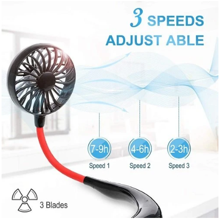 LED HANGING NECK FAN @ 60% OFF