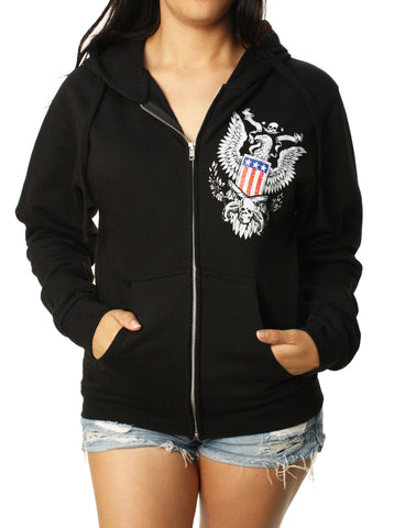 Outlaw Threadz Women's 2nd Amendment Full Zip Hoodie