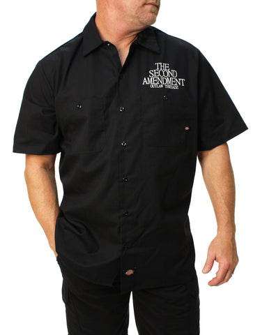 Outlaw Threadz Men's 2nd Amendment Work Shirt