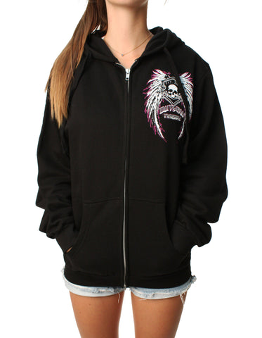 Outlaw Threadz Women's Angel Zip Up Hoodie