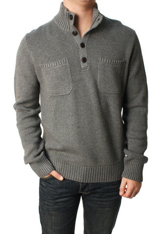 Lucky Brand Men's Military Mock Sweater