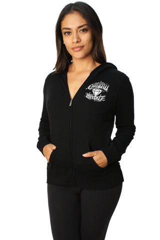 Outlaw Threadz Women's Flying Diamond Full Zip Hoodie