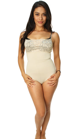 Raf_Over Women's Body Moldeador Encaje Body Sculpting Shapewear