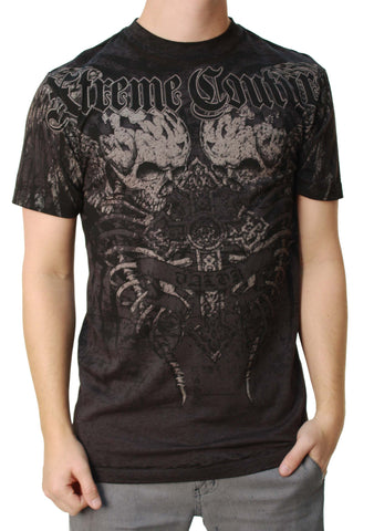 Xtreme Couture Men's Tailor Skulls Graphic SS T-Shirt