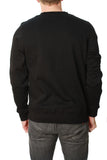 Young & Reckless Men's Crossed Up Crew Neck Pullover Fleece Sweater
