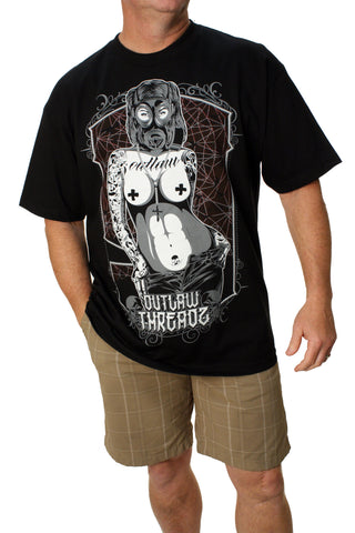 Outlaw Threadz Men's End of Days Crew Neck Graphic T-Shirt