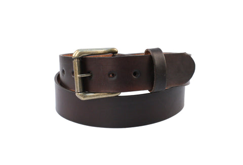 R G Bullco Men's Made In USA Oil Tanned Strap Leather Belt