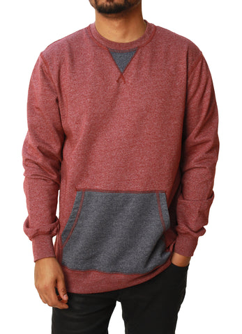 Retrofit Men's Color Block Pullover Crew Neck Sweater