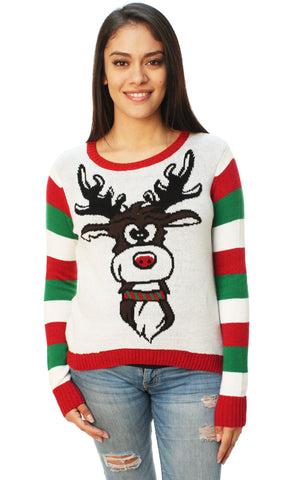 Ugly Christmas Sweater Women's Reindeer Cookie Surprise Sweater