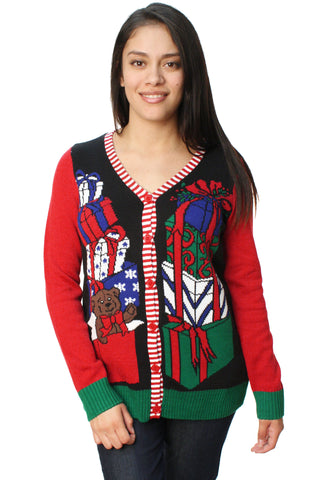 Ugly Christmas Sweater Women's Christmas Presents Cardigan Sweater