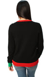 Ugly Christmas Sweater Women's Stuffed Stocking Cardigan Sweater