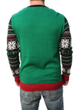 "Ugly Christmas Sweater Men's ""Party Like it's Your Birthday"" Pullover Sweatshirt"