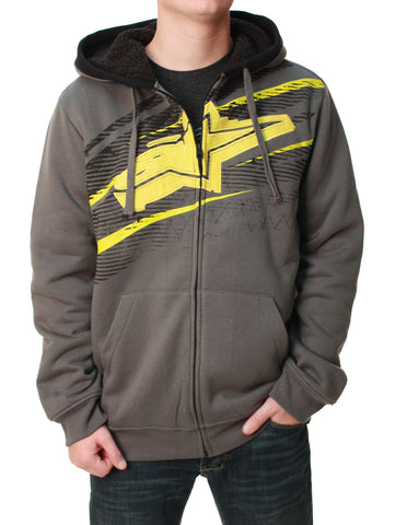 Alpinestars Men's Full Zip Undercut Fleece Lined Hoodie