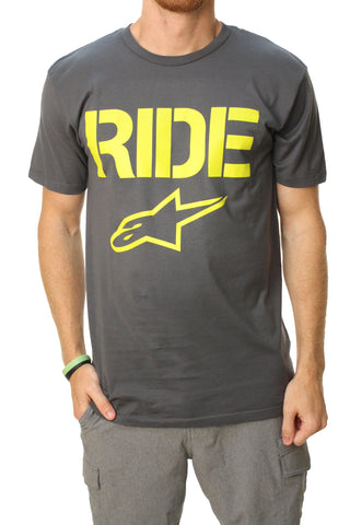 Alpinestars Men's Ride Solid Short Sleeve Crew Neck T-Shirt