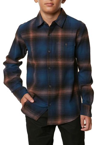 O'Neill Boy's Dillishaw Button Down Flannel Shirt