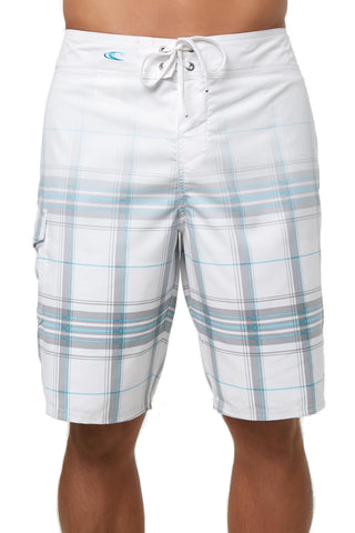 O'Neilll Men's Santa Cruz Plaid Boardshorts