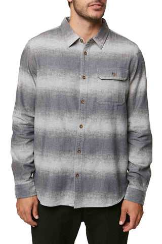 O'Neill Men's Blurred Flannel Woven Long Sleeve Shirt
