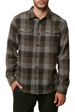 O'Neill Men's Wilshire Woven Flannel Long Sleeve Shirt