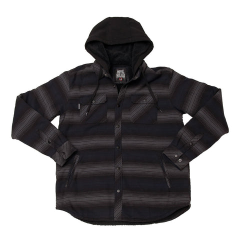 Metal Mulisha Men's Combat Sherpa Flannel Jacket