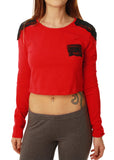 Metal Mulisha Women's Long Sleeve Grim Crop Top
